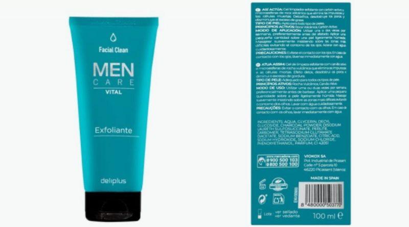Exfoliante facial de Deliplus para hombres